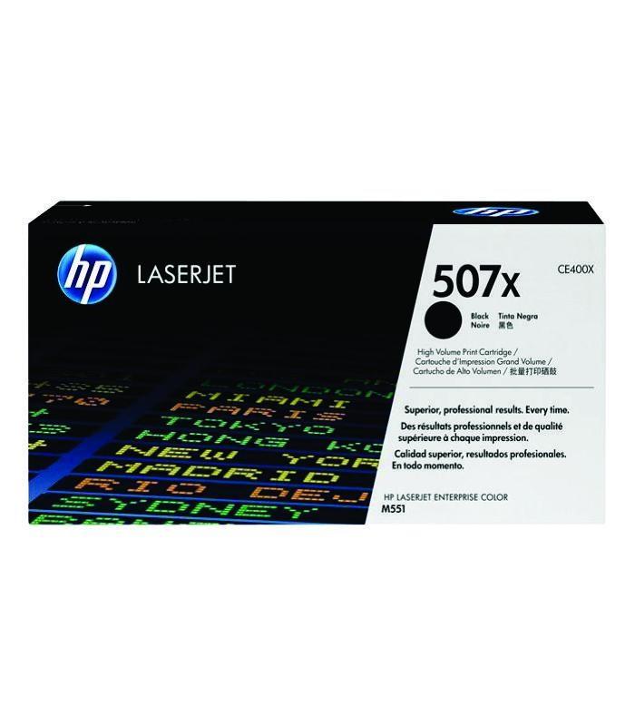 HP - 507X Black LaserJet Toner Cartridge [CE400X]