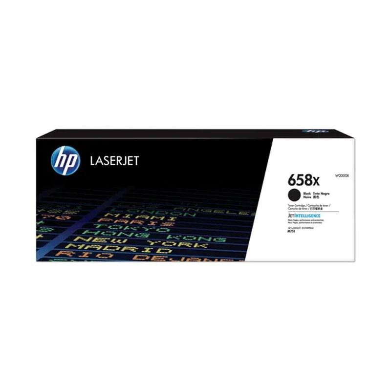 HP - 658X Black LaserJet Toner Cartridge [W2000X]