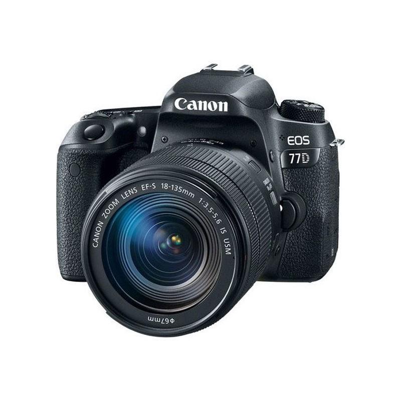 CANON - EOS 77D DSLR Camera 18-135mm USM Lens