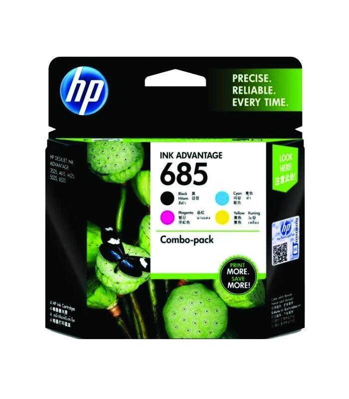 HP - 685 CMYK Ink Cartridge Combo 4-Pack [F6V35AA]