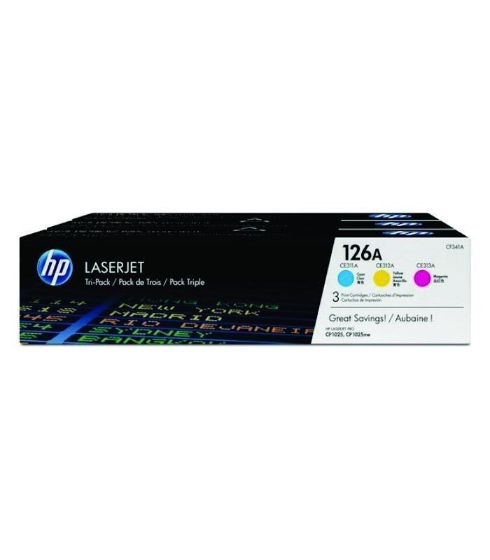 HP - 126A CYM Tri-Pack LJ Toner Cartridge [CF341A]