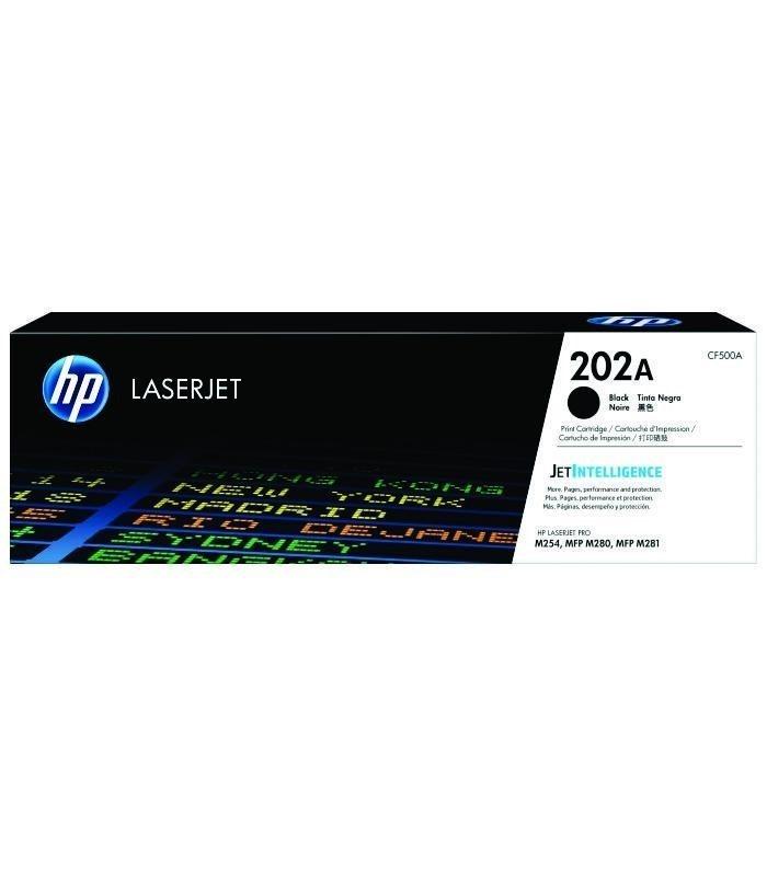 HP - 202A Black LaserJet Toner Cartridge [CF500A]