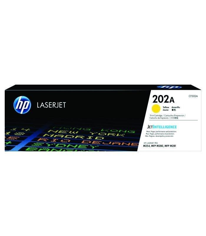 HP - 202A Yellow LaserJet Toner Cartridge [CF502A]