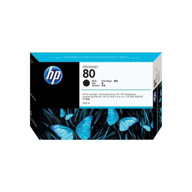HP - No 80 Black Ink Cartridge, 350ml [C4871A]