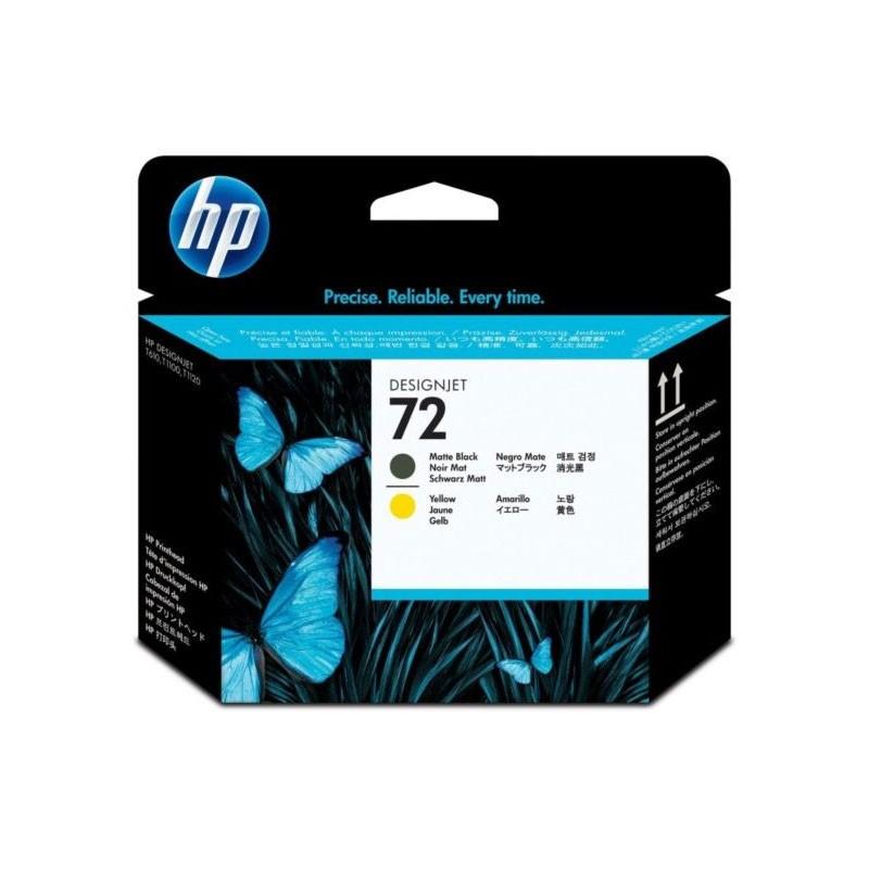 HP - 72 Matte Black / Yellow Printhead [C9384A]