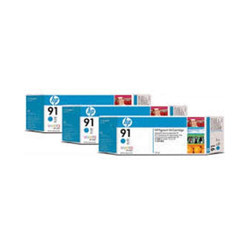HP - 91 Cyan 3 Ink Multi packs cartridges [C9483A]