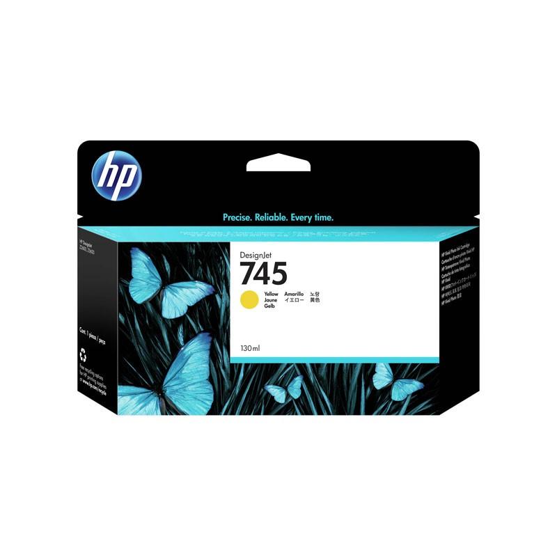 HP - 745 130-ml Yellow Ink Cartridge [F9J96A]