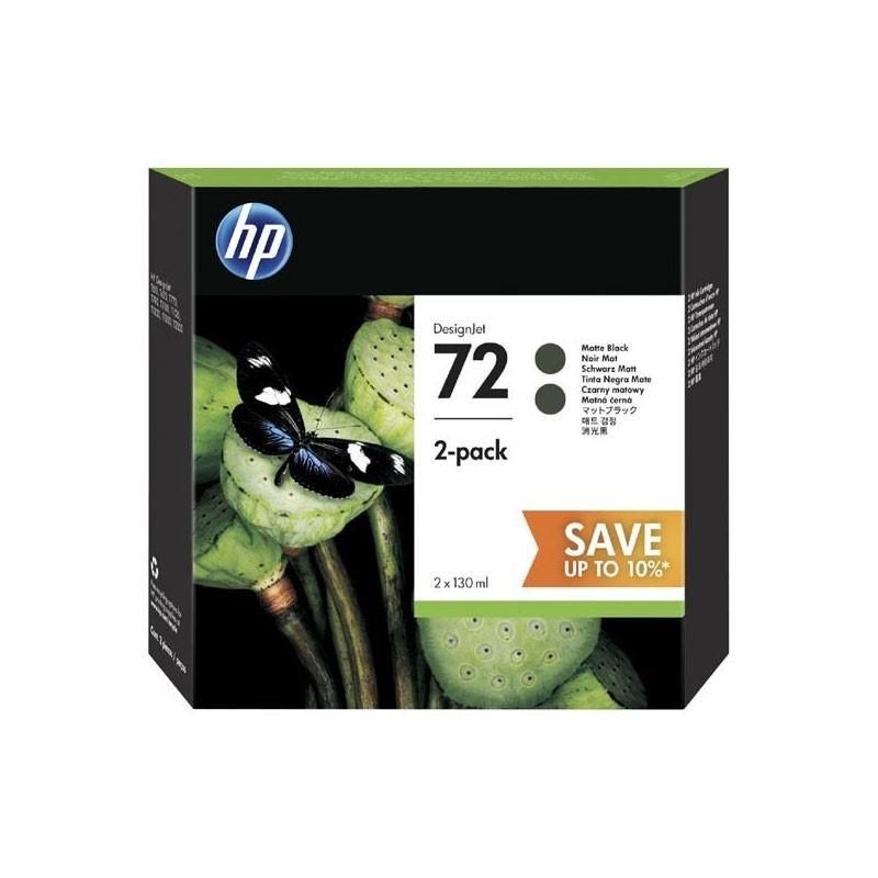 HP - 72 130ml Black Ink Crtg 2-Pack [P2V33A]