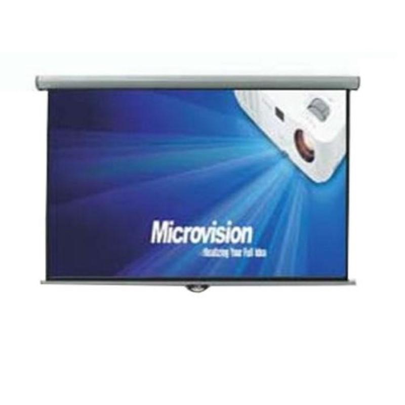 MICROVISION - Manual Wall Screen 244x244 cm / 96inchx96inch [MWSMV2424L]
