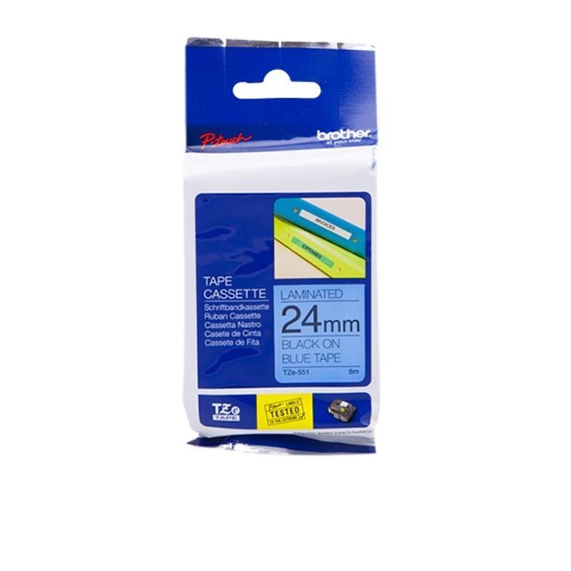 BROTHER - Color Tapes 24mm Black on Blue [TZE-551]